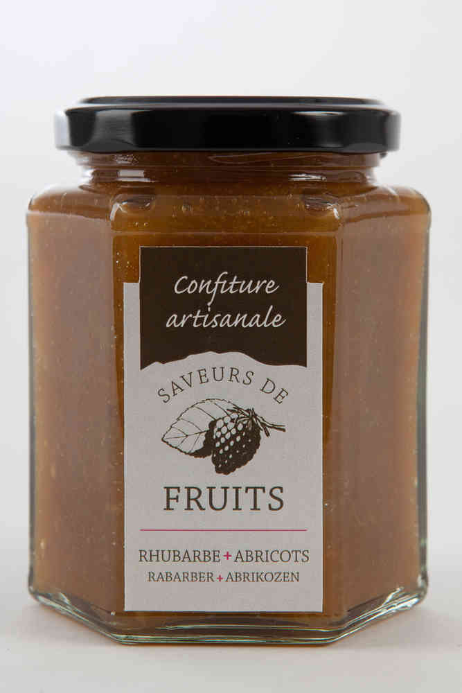 Confitures rhubarbes abricots